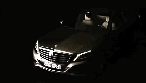 2014 mercedes s class officialteaser 600x342 at 2014 mercedes s class officially teased video - Mercedes Benz 2014 S Class Black