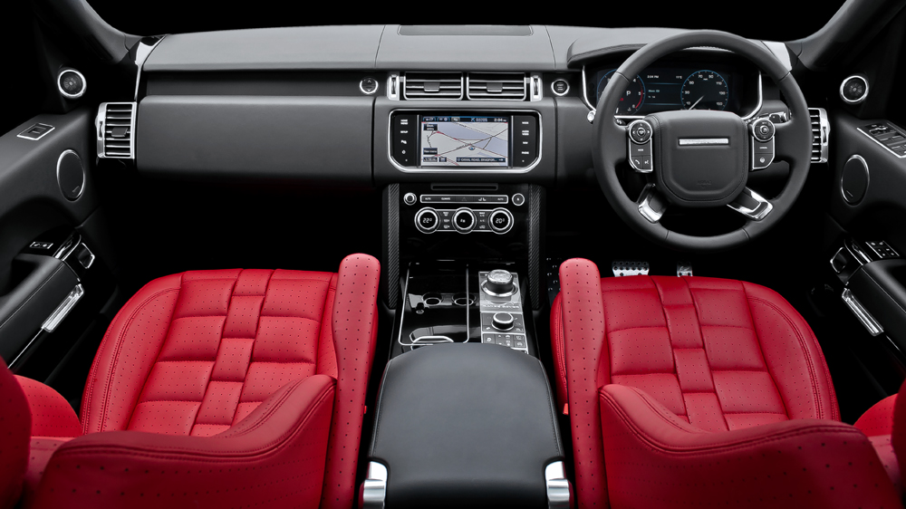 Kahn Design Red Interior Package for the 2013 Range Rover