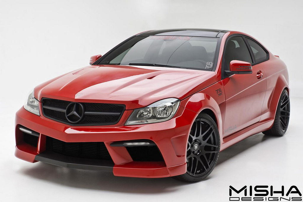 Mercedes c class wide body by misha designs for Mercedes benz c class body kit