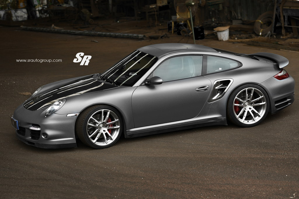 tricked out porsche 997 turbo on pur wheels by sr auto. Black Bedroom Furniture Sets. Home Design Ideas