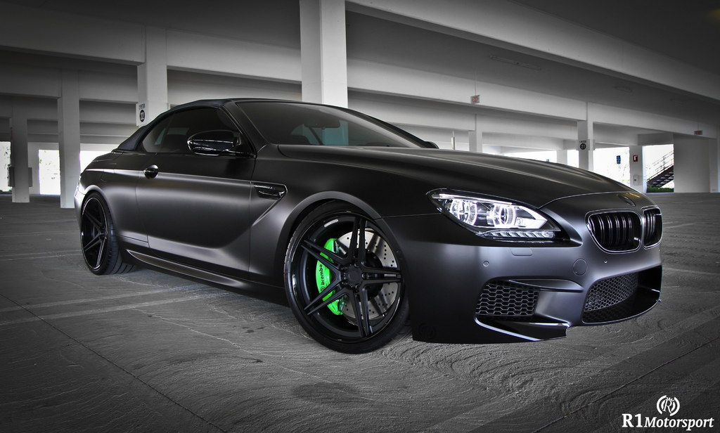 Satin Black Bmw M6 F13 By R1 Motorsport