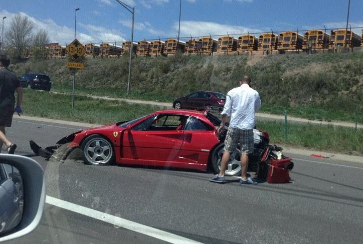 Obituary Ferrari F40 Wrecked By A Minivan In Colorado