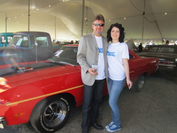 mandy mopar with father Barrett Jackson 600x450 at Mopar Mandy: Interview with Amanda Yantos