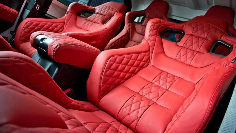 Jeep wrangler sahara by kahn design for Jeep wrangler red interior for sale