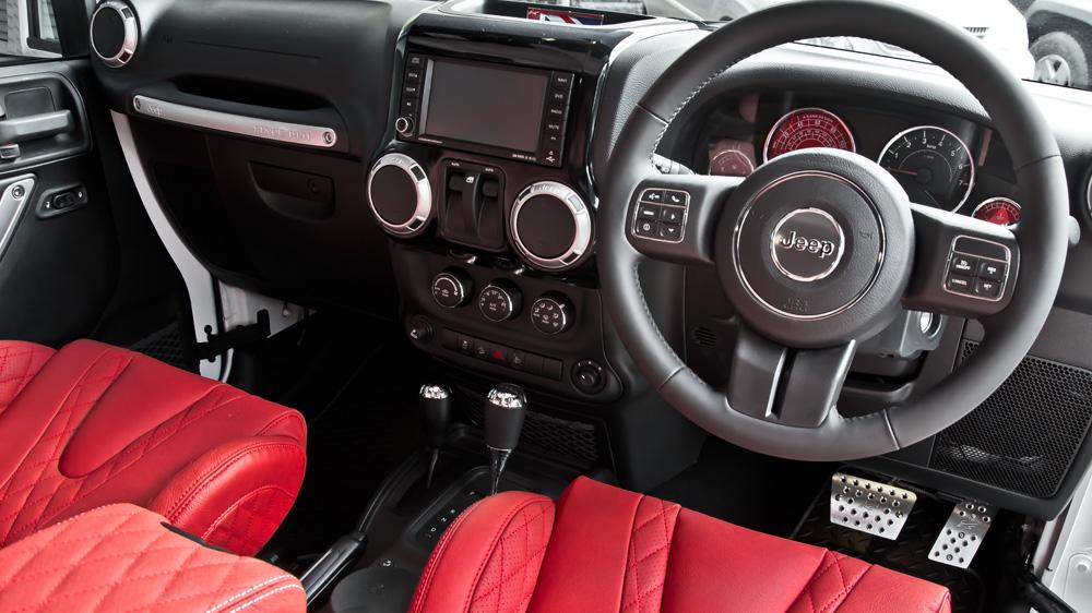 Red front entry door - Jeep Wrangler Sahara By Kahn Design