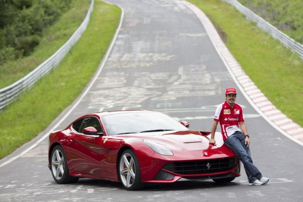 Fernando Alonso RIng 1 600x400 at Fernando Alonso At Nurburgring With Ferrari F12   Interview