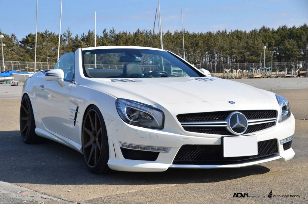 Mercedes sl63 amg with bronze adv1 wheels picture gallery for 2013 mercedes benz sl class sl63 amg