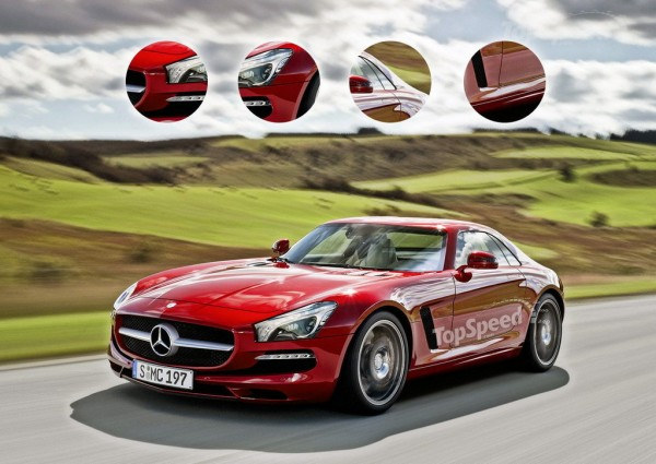 Mercedes SLC AMG render 1 600x425 at Rendering: Mercedes SLC AMG