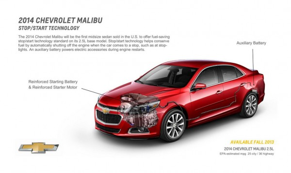 2014 Chevrolet MalibuStartStop 600x358 at 2014 Chevrolet Malibu Gets Standard Stop/Start System