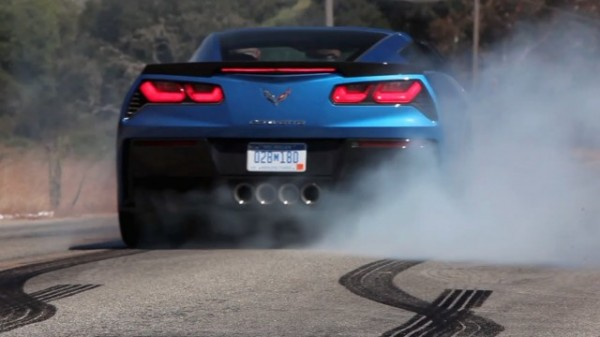 C7 Corvette Stingray Massive Burnout 600x337 at Corvette Stingray Dyno and Burnout Footage