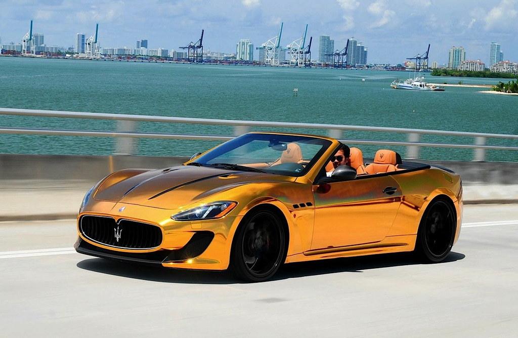Golden Maserati GranCario by Velos Designwerks