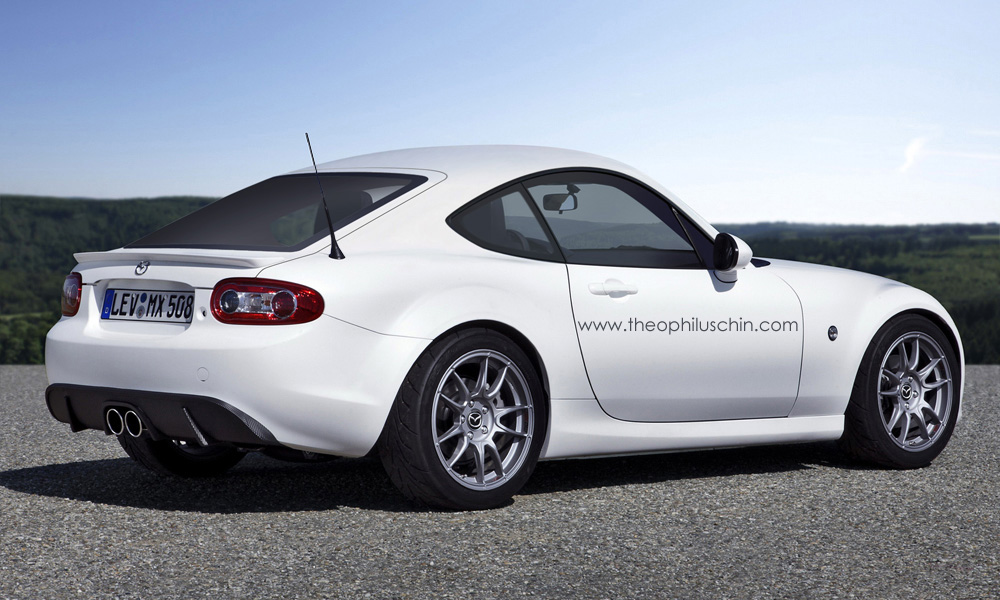 rendering mazda mx 5 coupe. Black Bedroom Furniture Sets. Home Design Ideas