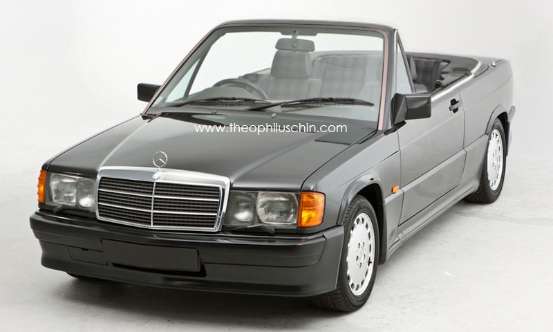 speculative rendering mercedes benz 190e cabriolet. Black Bedroom Furniture Sets. Home Design Ideas