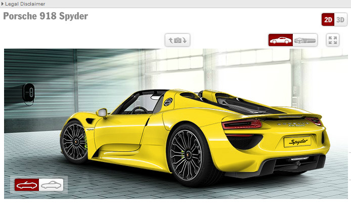 porsche 918 configurator shows a starting price of 845 000. Black Bedroom Furniture Sets. Home Design Ideas
