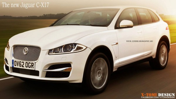 jagaur c x17 rendering 600x337 at Rendering: Jaguar C X17 SUV Concept
