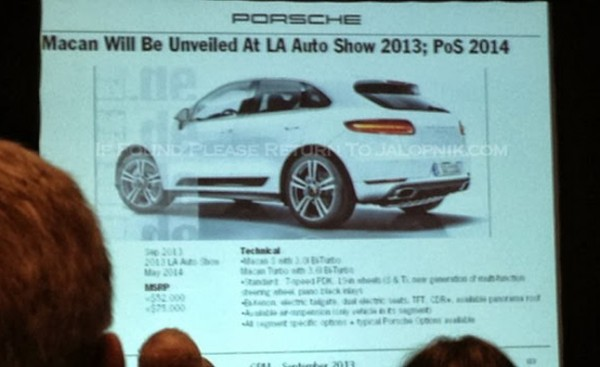 porsche leaked 1 600x367 at Hot Porsche News: Macan Pricing, Cayman and Boxster GTS Specs