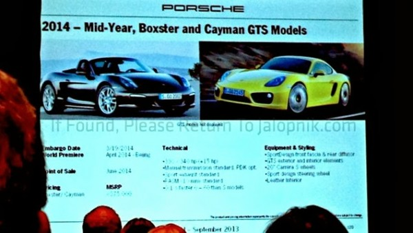 porsche leaked 2 600x338 at Hot Porsche News: Macan Pricing, Cayman and Boxster GTS Specs