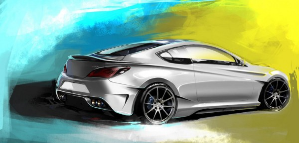 Hyundai Genesis Coupe Legato 2 600x288 at Hyundai Genesis Coupe Legato by ARK: SEMA Preview
