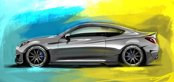Hyundai Genesis Coupe Legato 3 600x284 at Hyundai Genesis Coupe Legato by ARK: SEMA Preview
