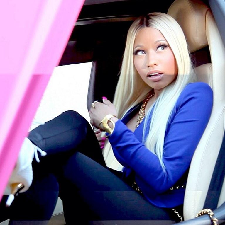 Nicki Minaj Shows Off Her Pink Lamborghini Aventador