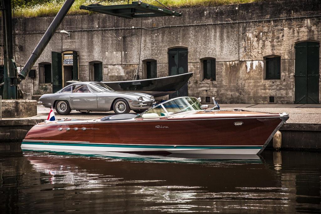 Riva aquarama lamborghini boat restored Riva motors