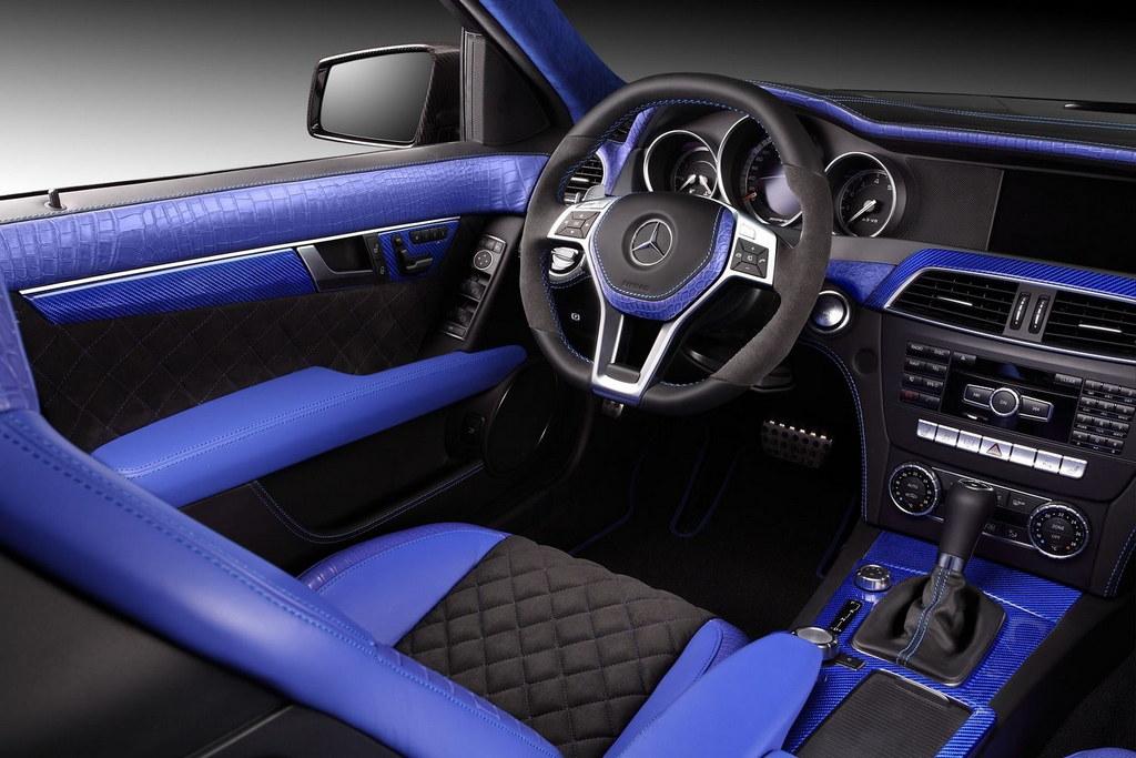 Topcar Blue Crocodile Interior For Mercedes C63 Amg