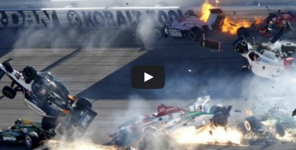 indy crash 600x304 at Most Spectacular Motorsport Crashes of the Weekend