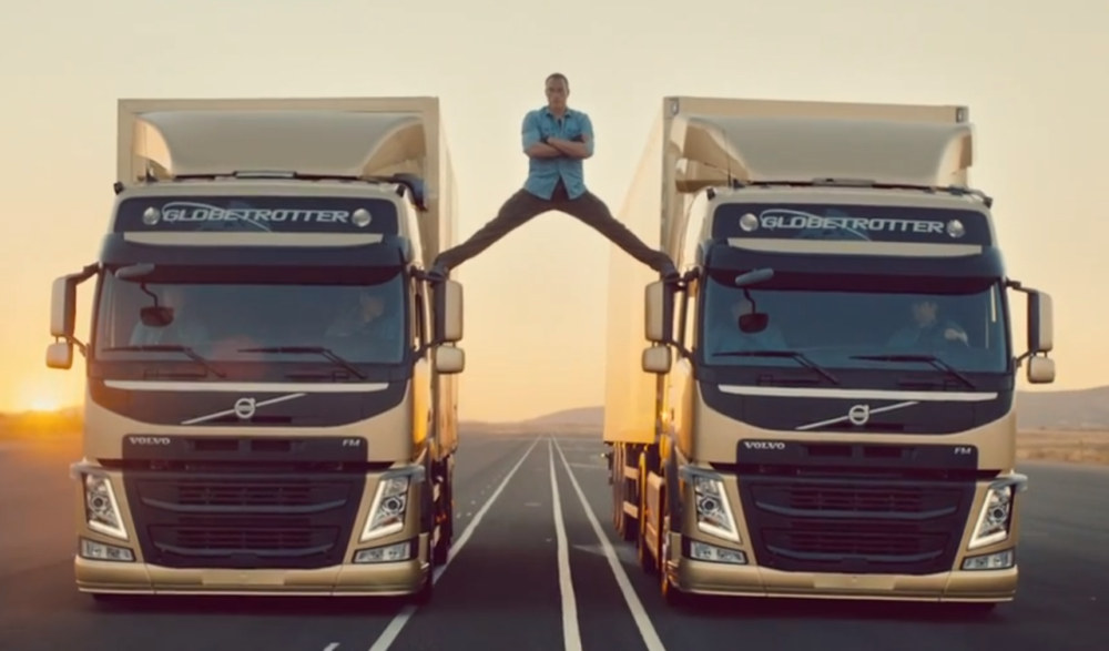 Epic Split Jean Claude Van Damme Stars In Volvo Trucks Ad