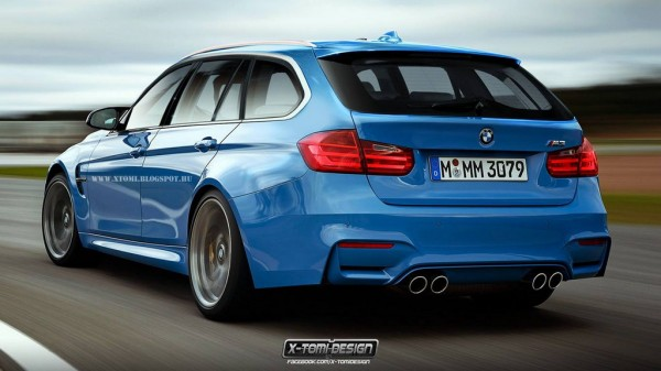 2015 BMW M3 Touring Render 600x337 at Rendering: 2014 BMW M3 Touring