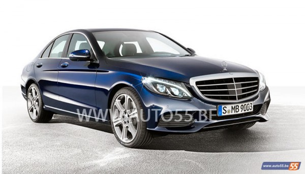 2015 Mercedes C Class Exposed 1 600x343 at 2015 Mercedes C Class Revealed New Leaked Pictures