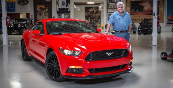 2015 Mustang Leno 600x307 at In Depth Look at 2015 Ford Mustang with Jay Leno