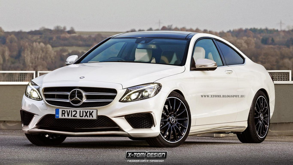 Renderings: 2015 Mercedes C-Class Coupe and Estate - Motorward
