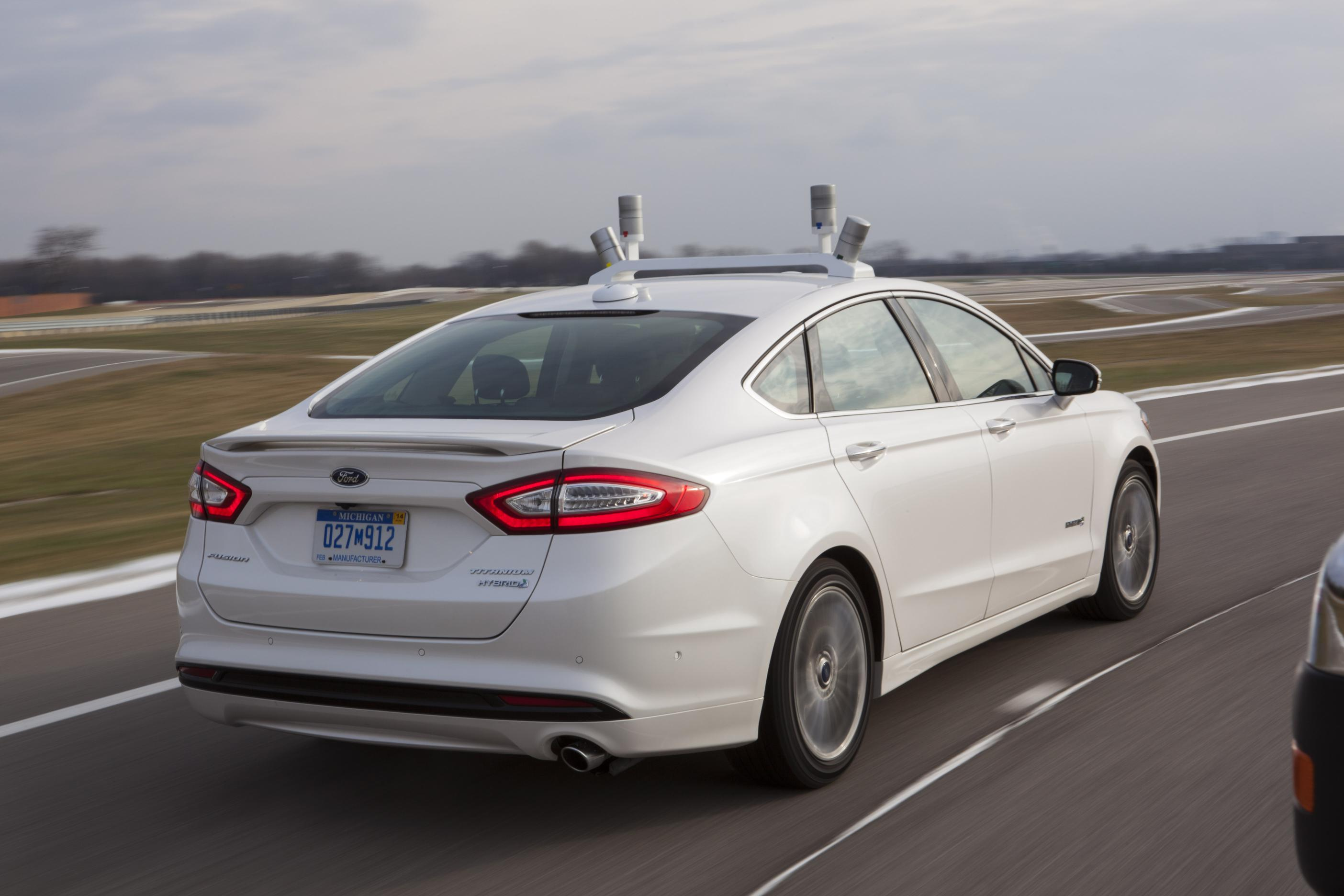 autonomous ford fusion hybrid research vehicle unveiled. Black Bedroom Furniture Sets. Home Design Ideas