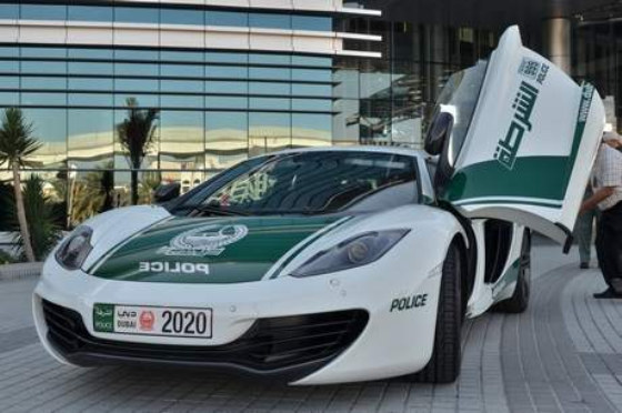 Dubai Police McLaren 12C at Dubai Police McLaren 12C Comes Out to Play