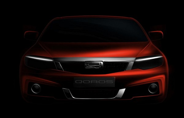 New Qoros Model 1 600x386 at New Qoros Model Teased for 2014 Geneva Motor Show
