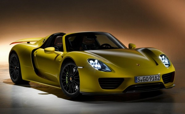 Porsche 918 Spyder in Yellow 0 600x372 at Scrumptious: Porsche 918 Spyder in Yellow