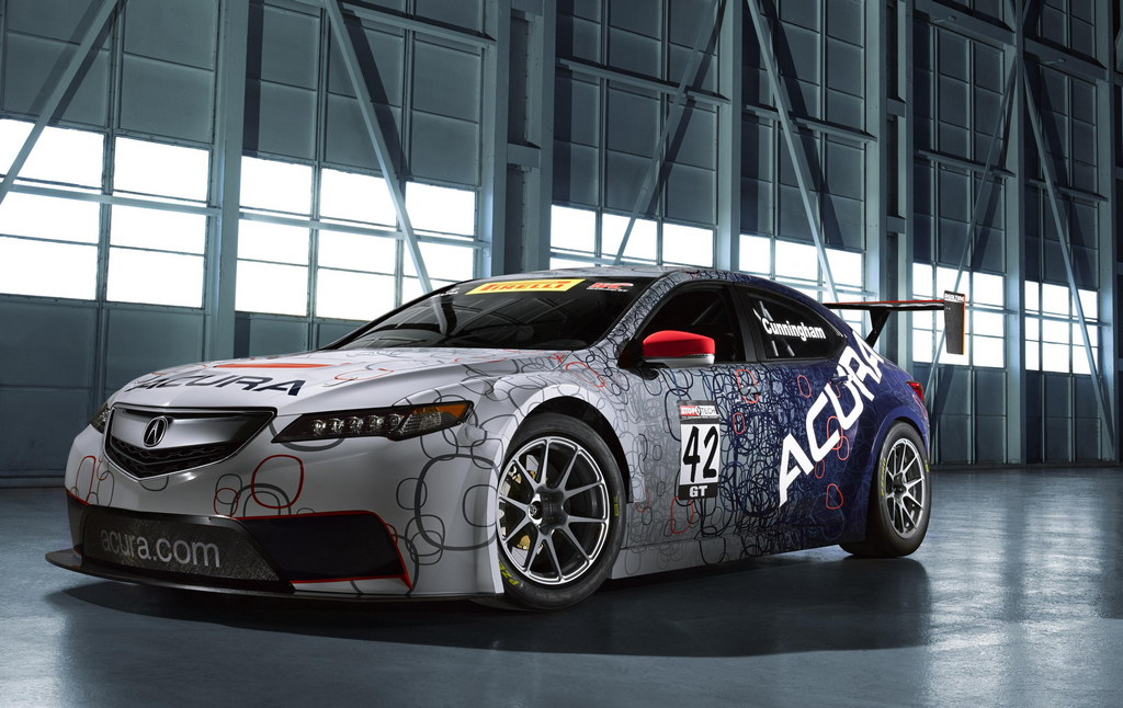 acura tlx gt race car unveiled naias 2014. Black Bedroom Furniture Sets. Home Design Ideas