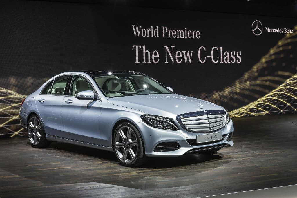 new mercedes c class arrives in detroit naias 2014 motorward. Cars Review. Best American Auto & Cars Review