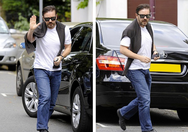 photo of Ricky Gervais Mercedes E-Classe - car