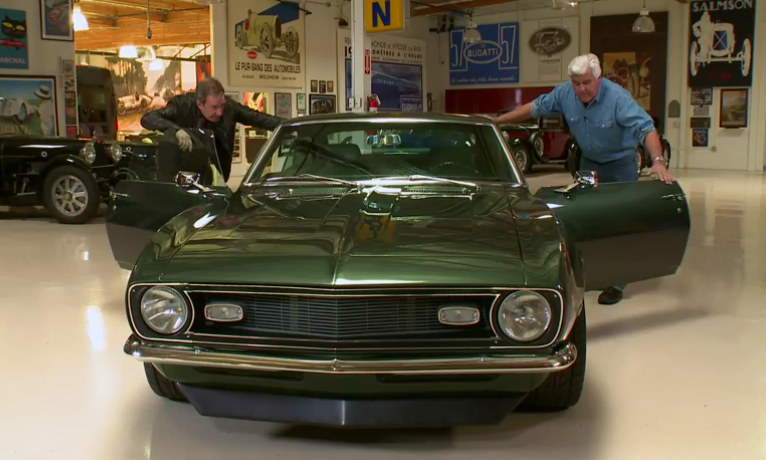jay leno checks out tim allen s camaro copo 427. Black Bedroom Furniture Sets. Home Design Ideas