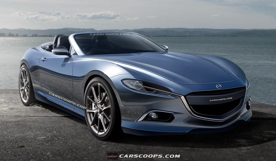 awesome new rendering of next gen mazda mx 5. Black Bedroom Furniture Sets. Home Design Ideas