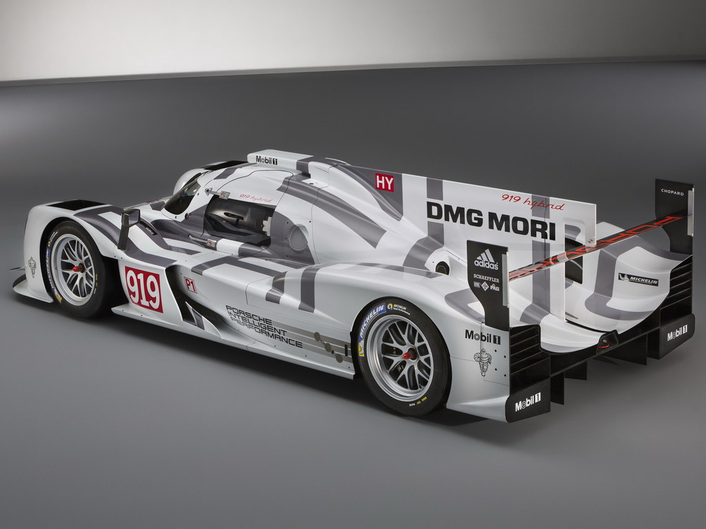 geneva 2014 porsche 919 hybrid in le mans livery. Black Bedroom Furniture Sets. Home Design Ideas