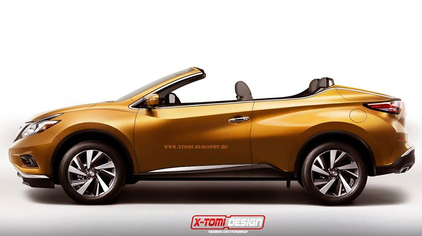 rendering 2015 nissan murano crosscabriolet. Black Bedroom Furniture Sets. Home Design Ideas