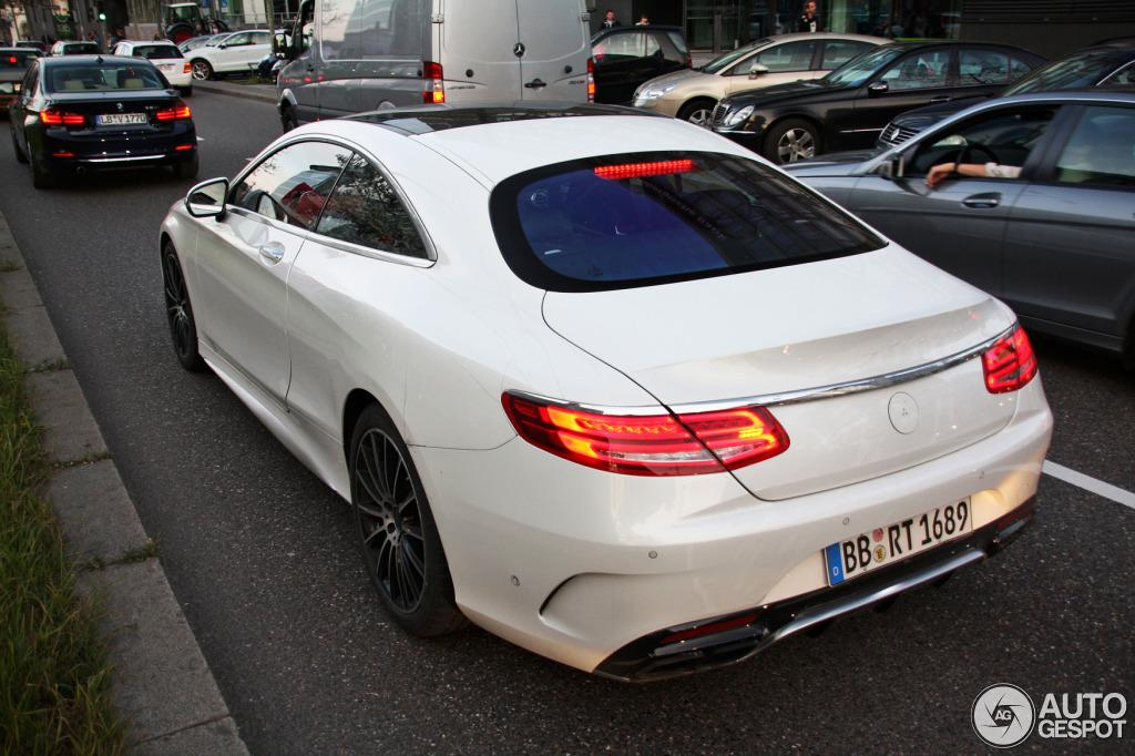 mercedes s63 amg coupe spotted out and about. Black Bedroom Furniture Sets. Home Design Ideas