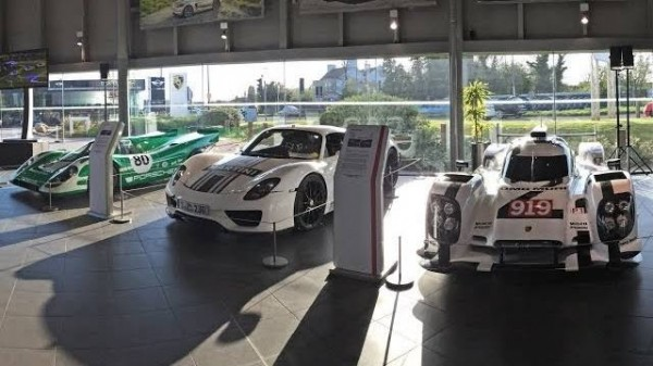 Porsche 917 918 Spyder 919 Hybrid 600x337 at Porsche 917, 918 Spyder and 919 Hybrid Spice Up Macan's UK Preview