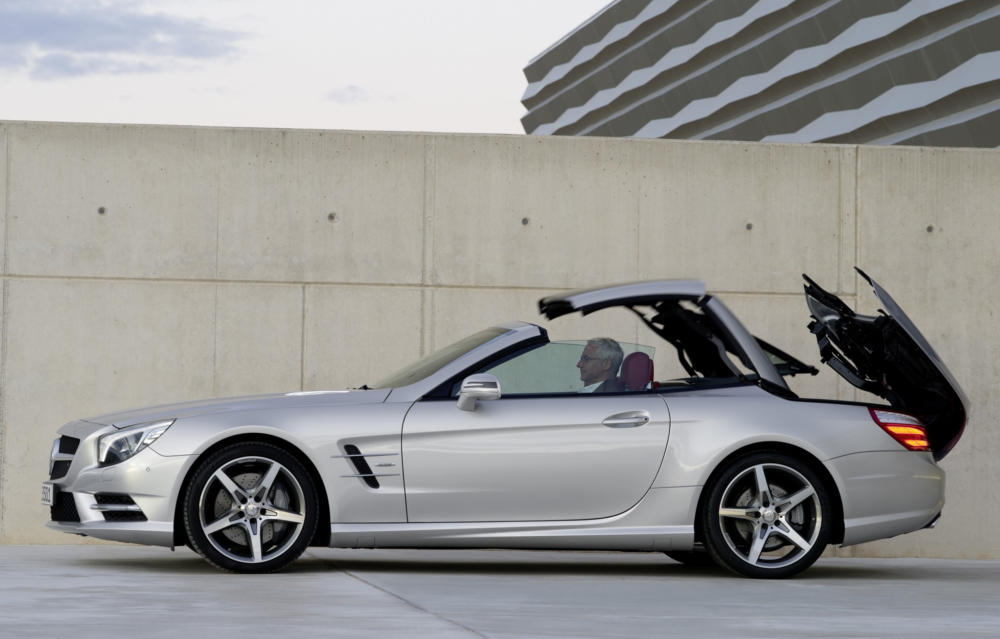 next mercedes sl and slk might lose retractable hardtop