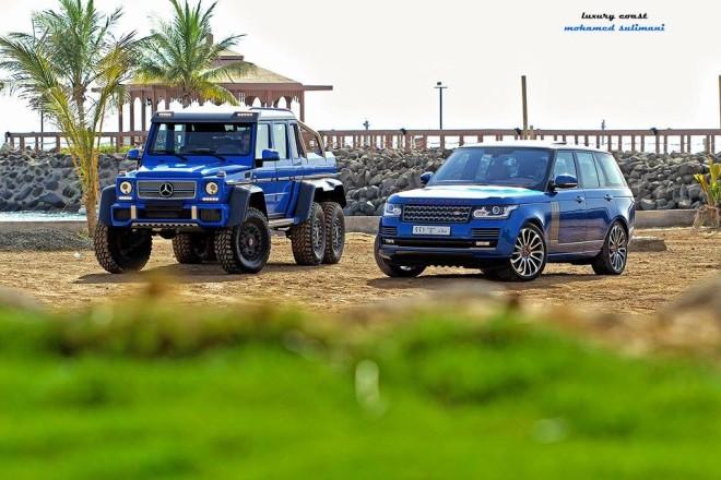 Blue Mercedes G63 Amg 6x6 From Saudi Arabia