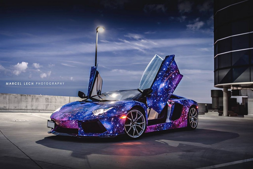 Galaxy Themed Lamborghini Aventador Roadster From Canada