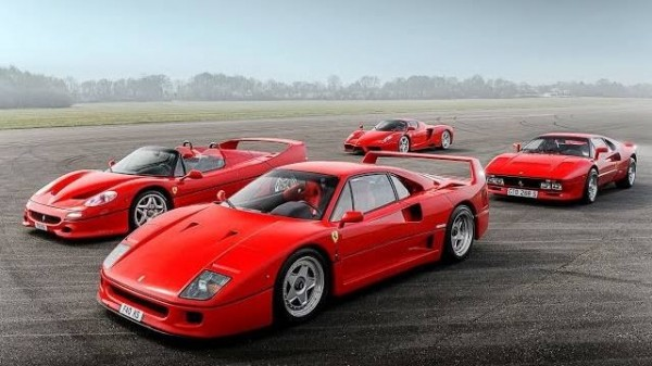 laferrari bloodline 600x337 at LaFerraris Bloodline: Enzo, F40, F50 & 288 GTO at Top Gear Track