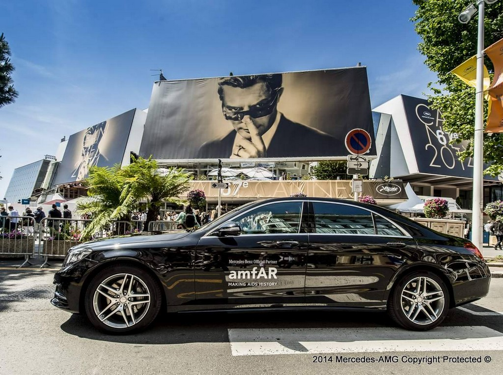 Mercedes s63 amg coupe at cannes film festival for Garage mercedes cannes